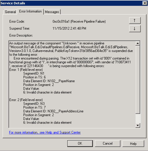 Invalid Character Errors When Stepping up 834 EDI Document ...